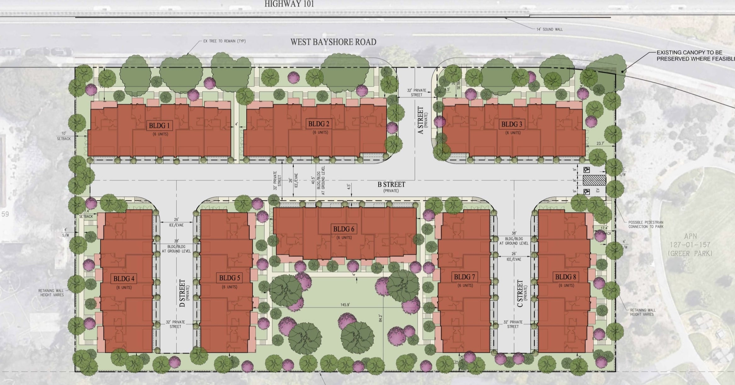 2850 West Bayshore Road Site Plan