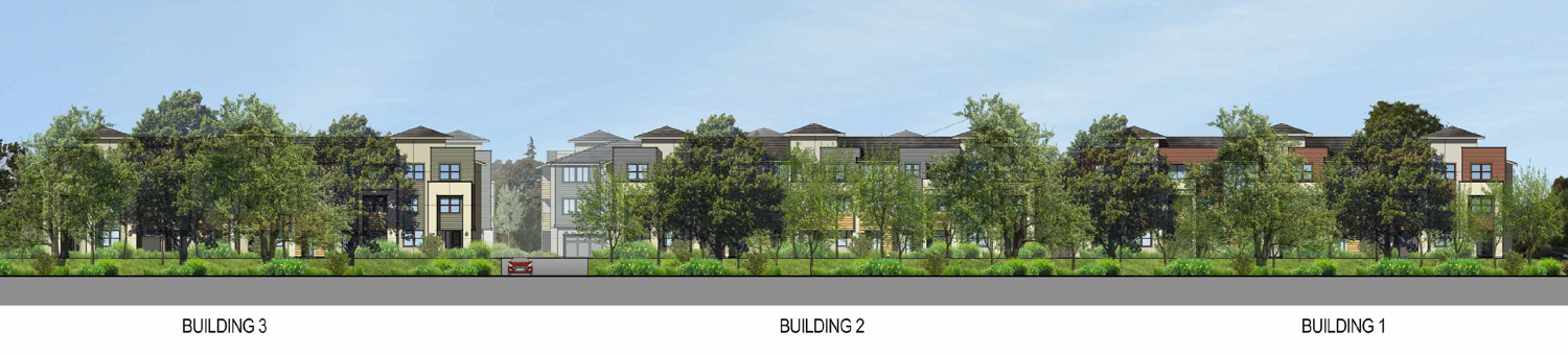 2850 West Bayshore Road panoramic view, elevation by SDG Architects