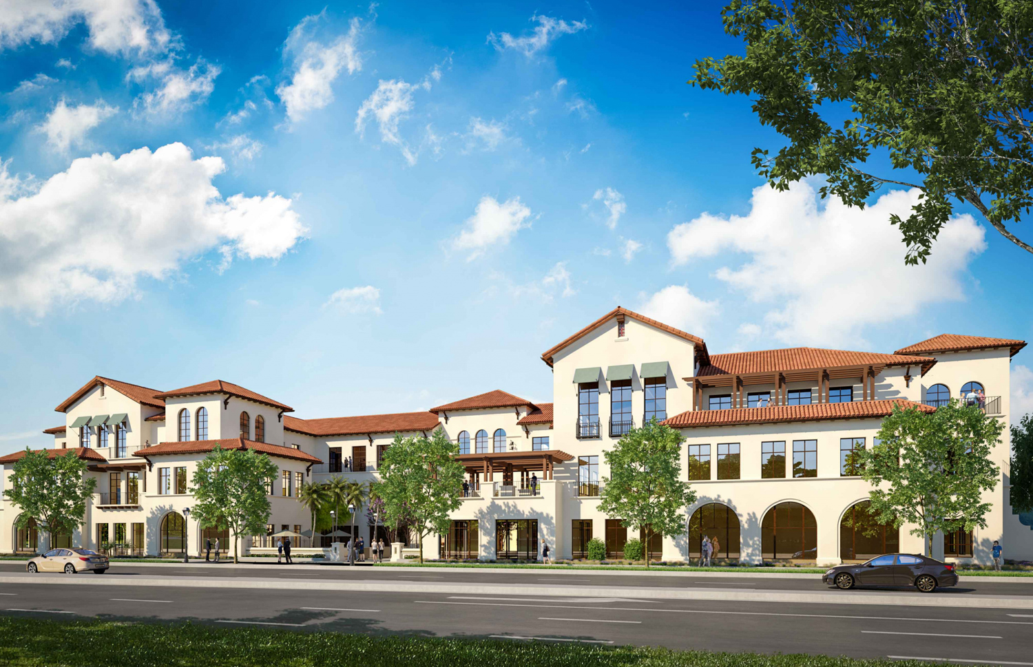 300 El Camino Real at Middle Plaza, rendering from Stanford University
