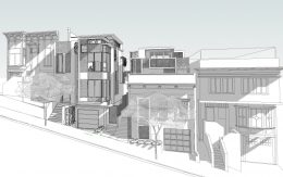 315 Rutledge Street establishing view, illustration by Does Architecture