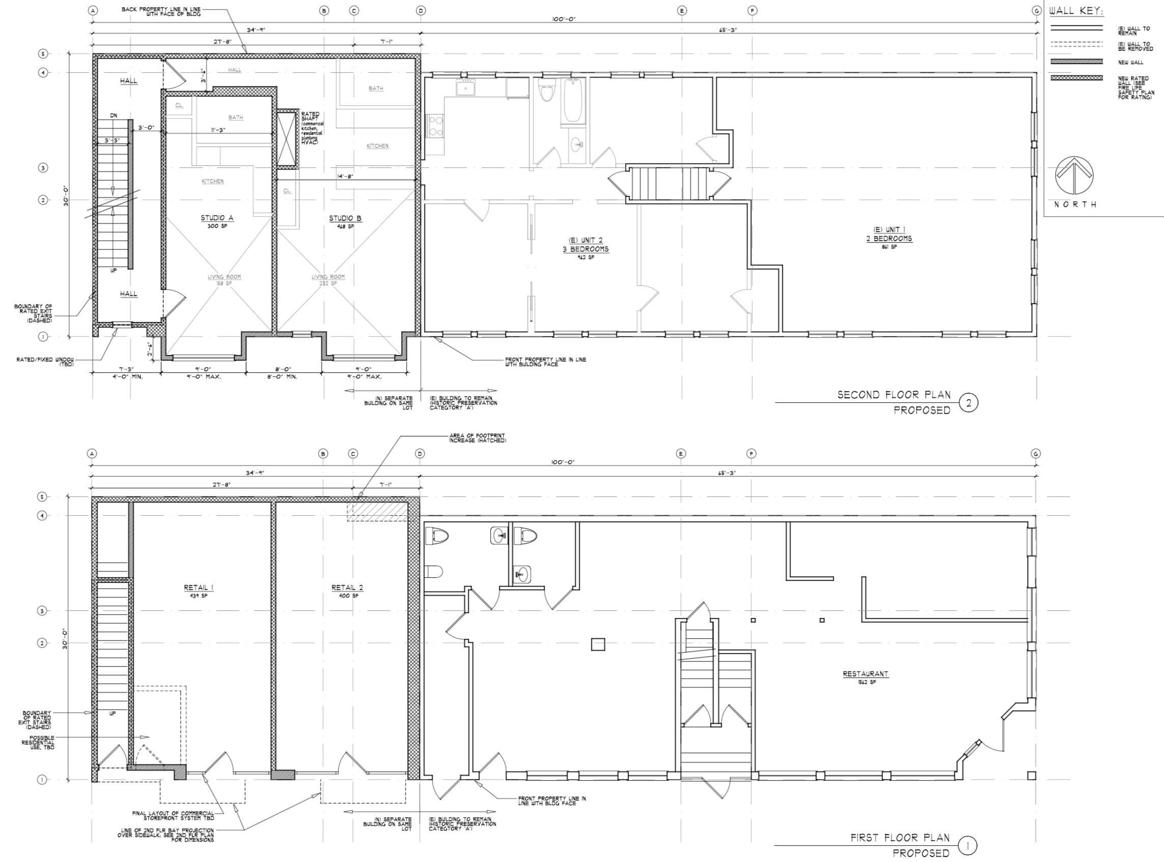 3214-16 24th Street Floor Plans