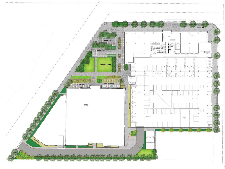 3896 Stevens Creek floor plan, plan by HKS Architects