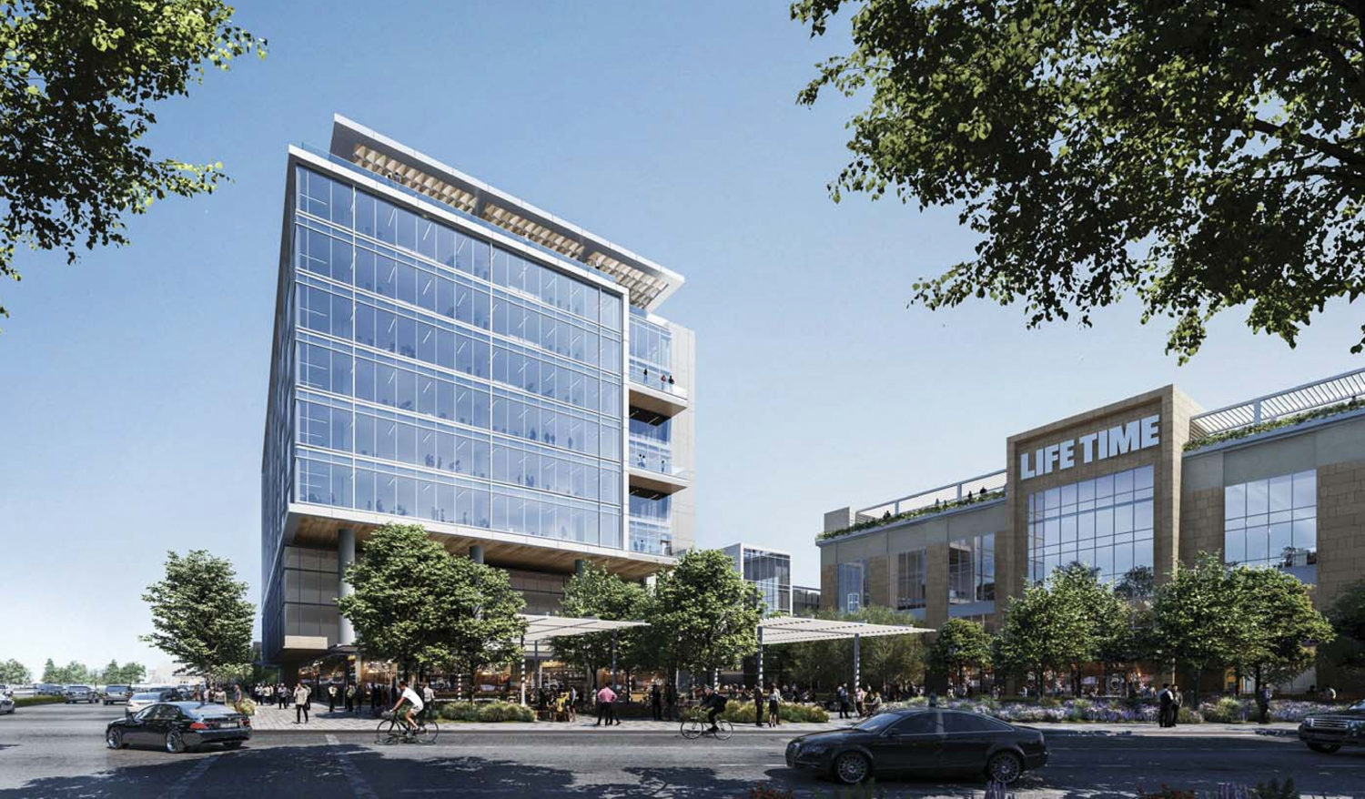 3896 Stevens Creek office building, rendering by HKS Architects