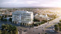 3896 Stevens Creek, rendering by HKS Architects
