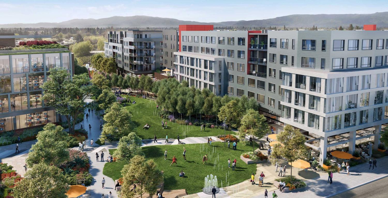 4300 Stevens Creek Boulevard development, rendering courtesy HMH