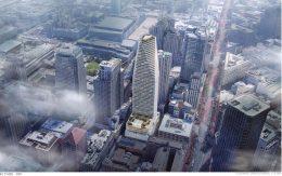 45-53 Third Street aerial view, rendering by SOM