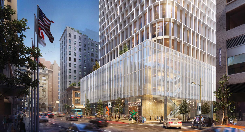 45-53 Third Street street view, rendering by SOM