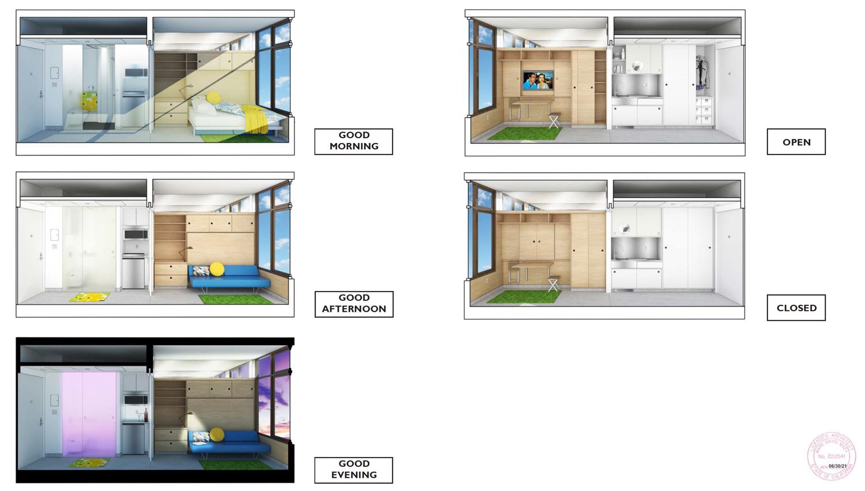 468 Turk Street interior lighting, design by Macy Architecture