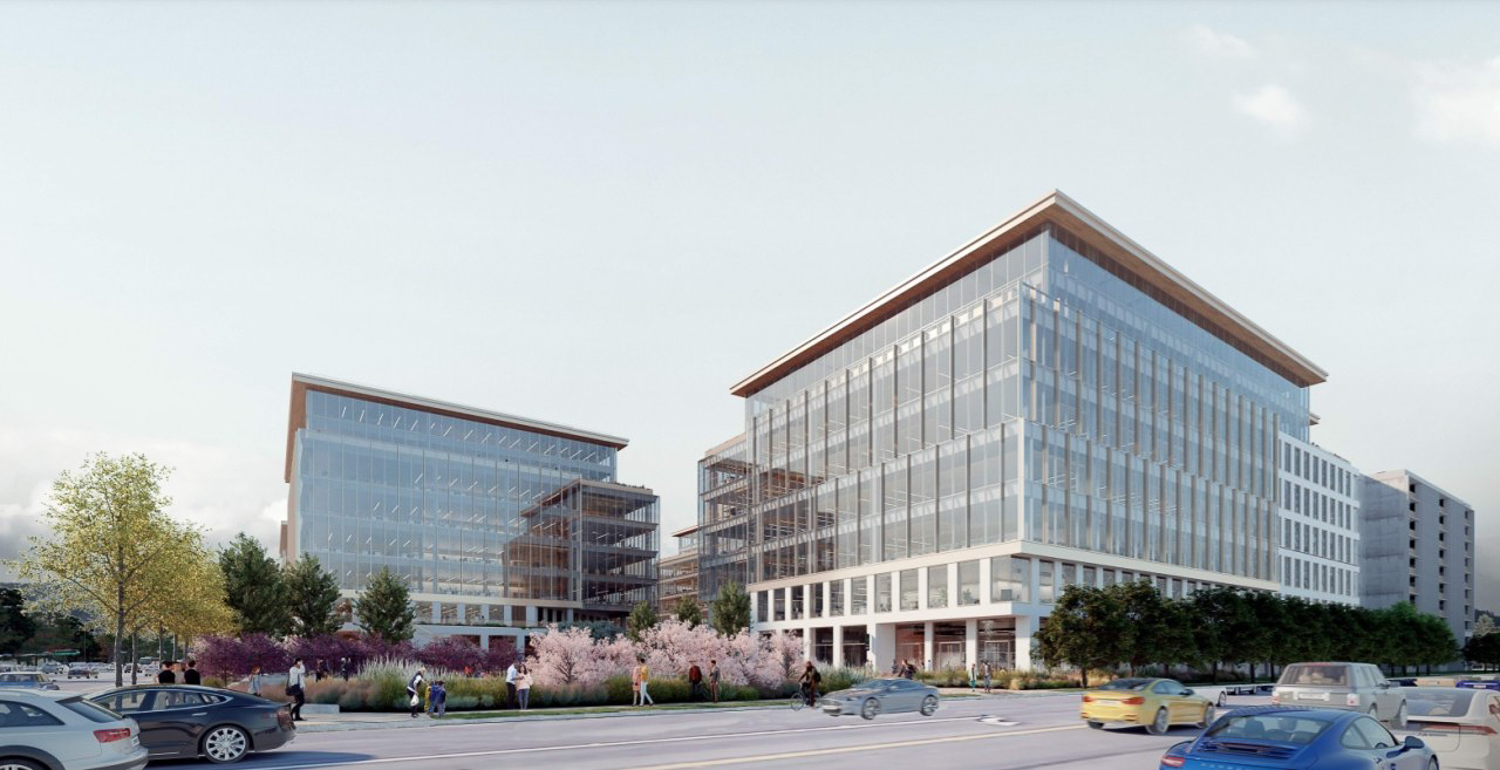 550 East Brokaw Road at the intersection with Junction Avenue, conceptual rendering by Gensler