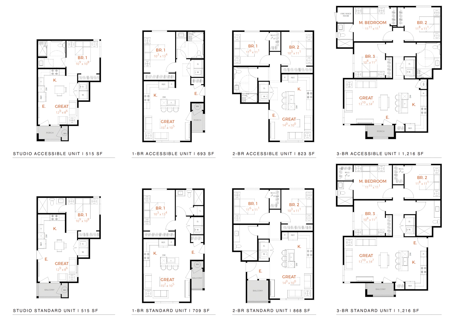 5842 Carson Drive floorplans, drawing by JDA Architects