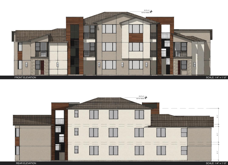 5842 Carson Drive vertical elevation, illustration by JDA Architects
