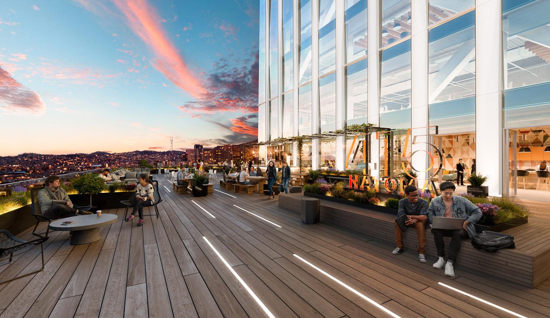 5M 415 Natoma 10th Floor Terrace, rendering by Brookfield Properties and Steelblue