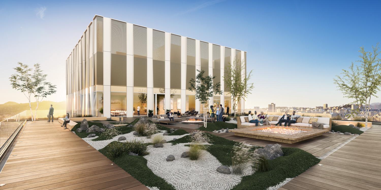 5M 415 Natoma 25th floor terrace, rendering by Brookfield Properties and Steelblue