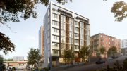 807 Franklin Street east elevation from Franklin Street, rendering by Kerman Morris Architects