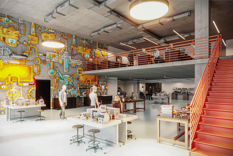 952-960 Howard Street interior, rendering by oWow