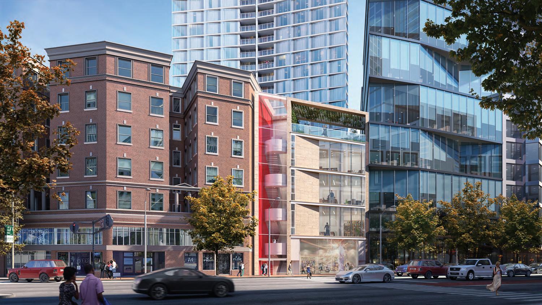 98 Franklin Street Market Street elevation, rendering by Skidmore Owings & Merrill