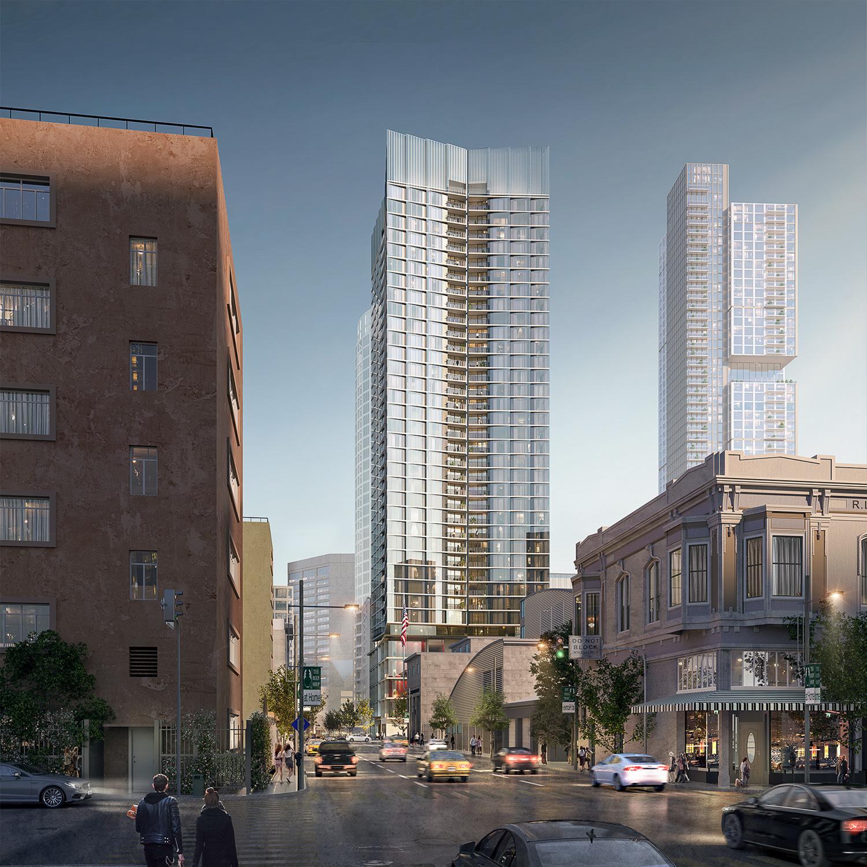 98 Franklin Street, rendering by Skidmore Owings & Merrill