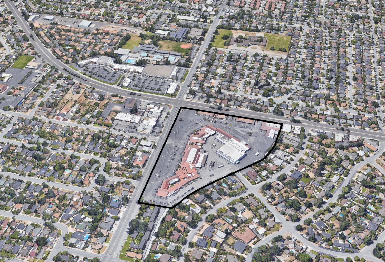 Cambrian Park Plaza at 14200 Union Avenue, image via Google Satellite