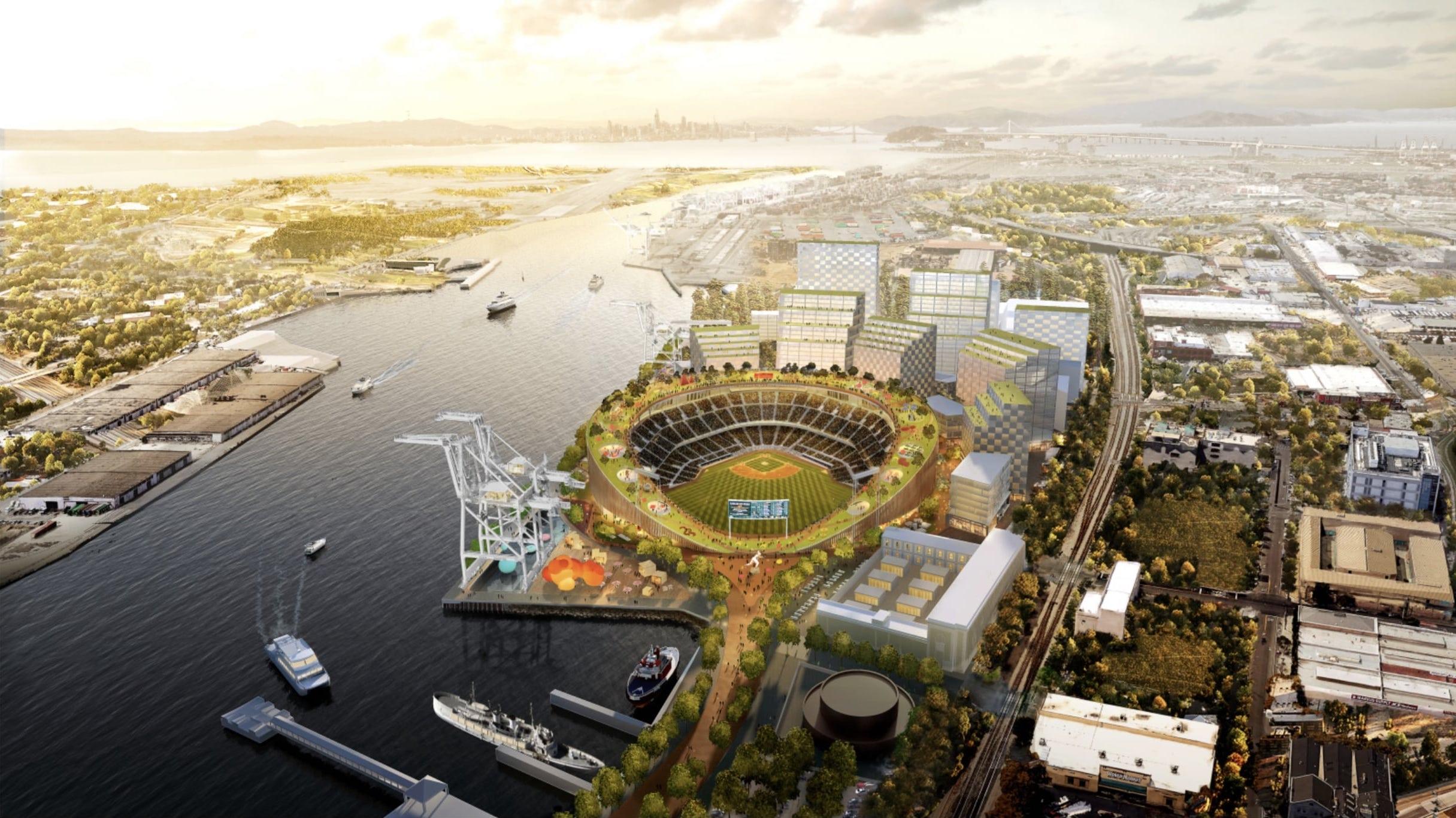 Oakland Ballpark Aerial View