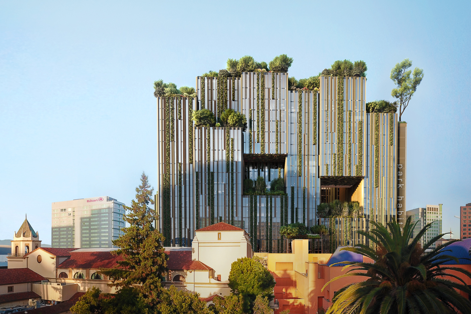 Park Habitat at 180 Park Avenue, rendering by Hayes Davidson and Westbank