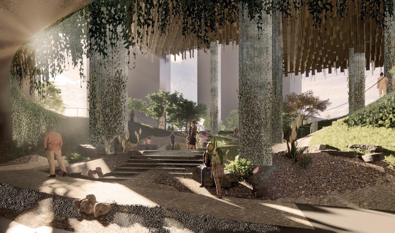 Park Habitat tower sound garden, rendering via Westbank Campus Website