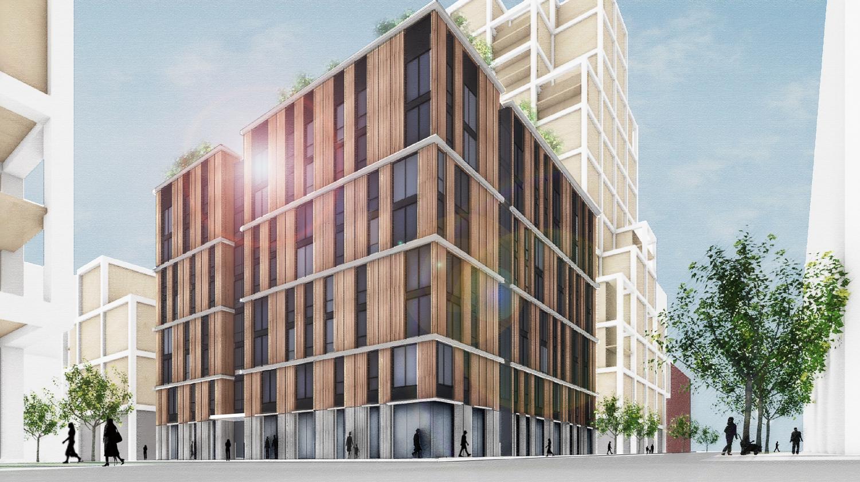 Potrero Power Station Block 7B stacked window study, rendering by Leddy Maytum Stacy Architects