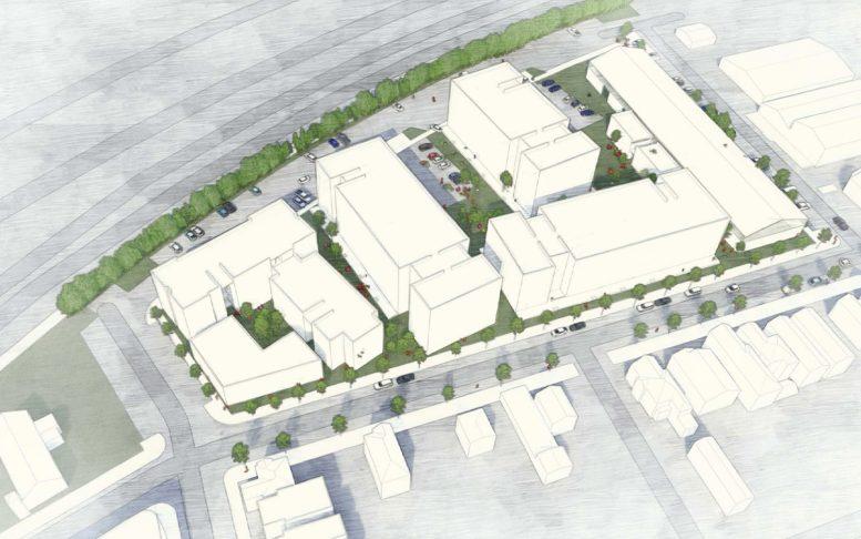 The Phoenix at 801 Pine Street full-development illustration, design by Lowney Architects