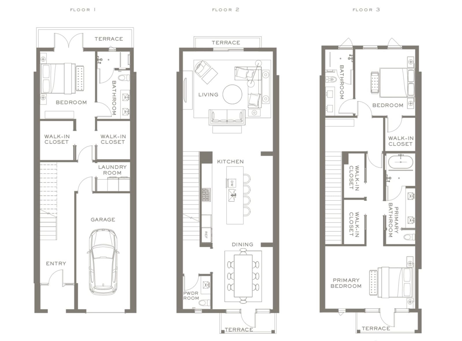 The Townhomes Floor Plans