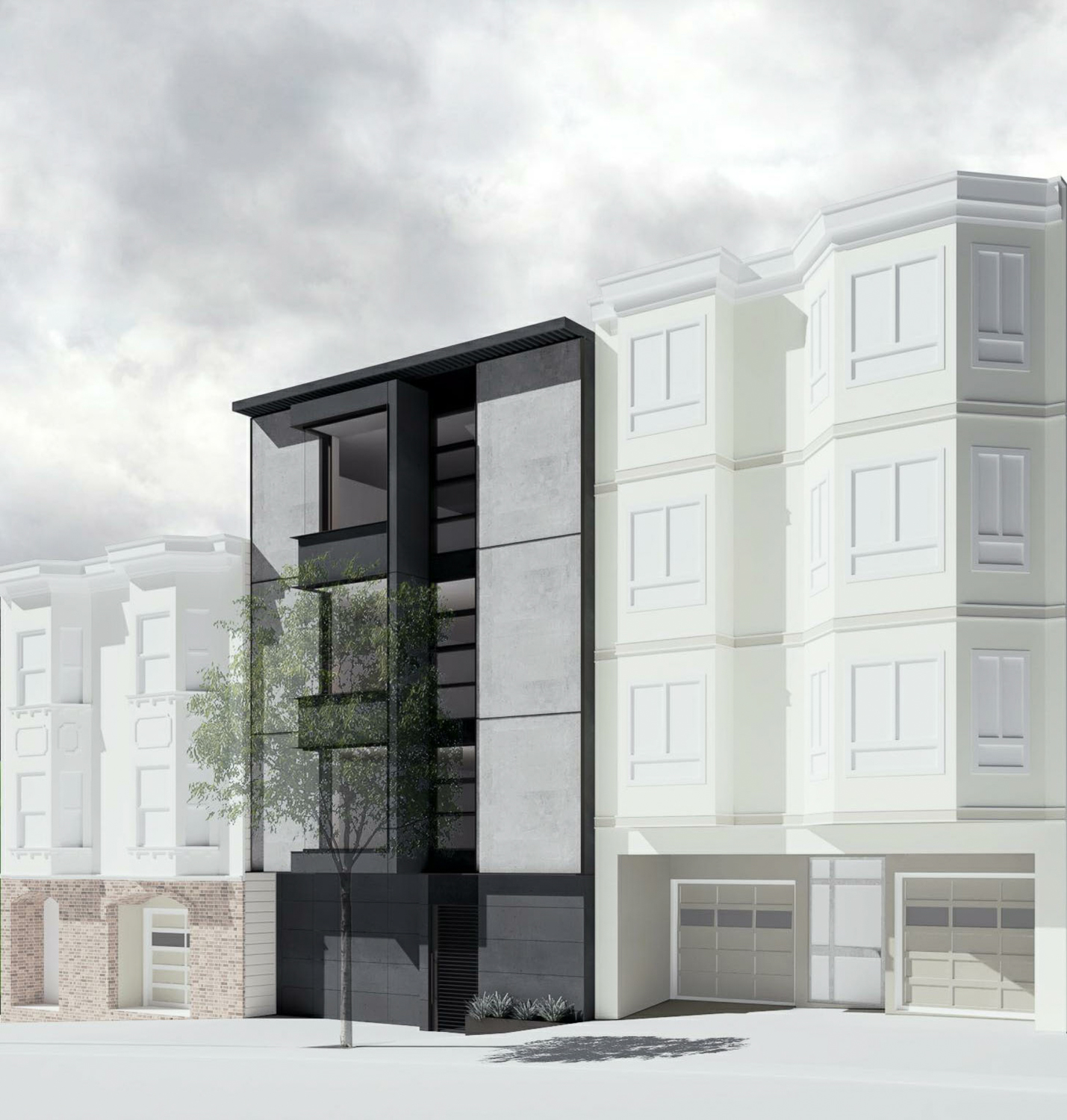 1336 Chestnut Street, rendering by Michael Hennessey Architecture