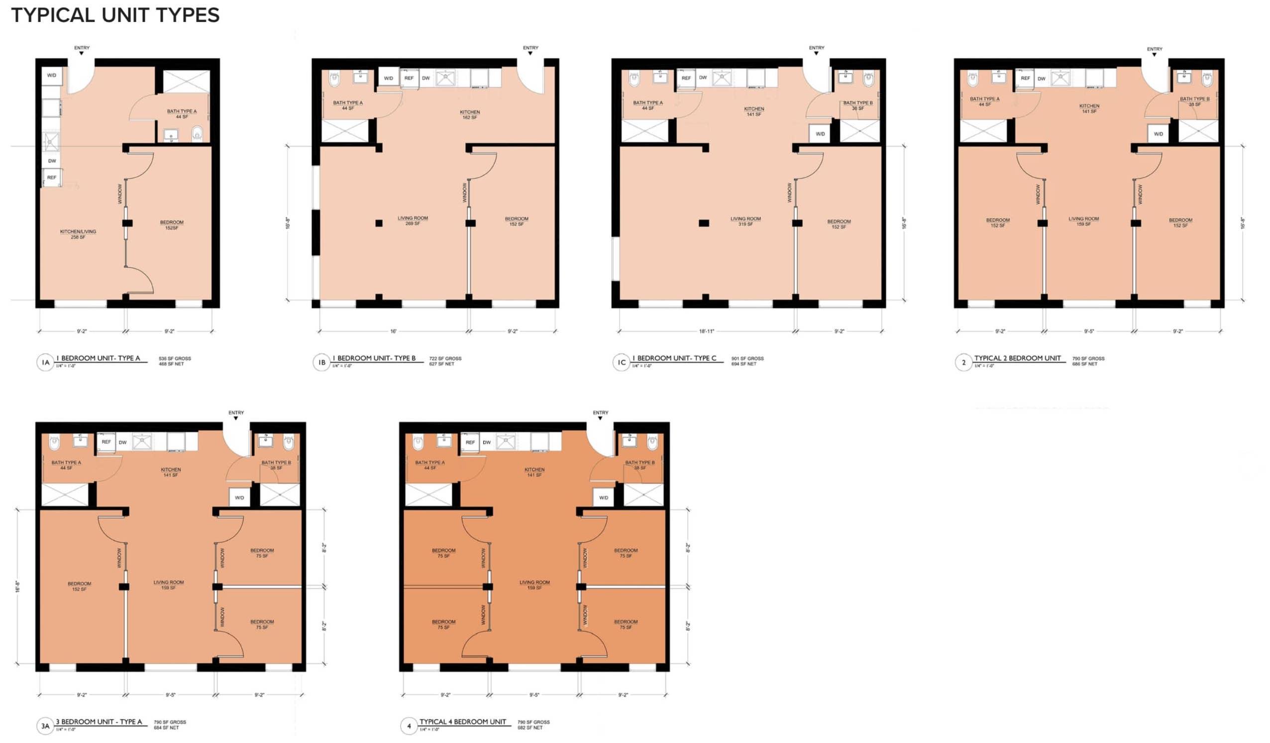 1510 Webster Street Unit Plans