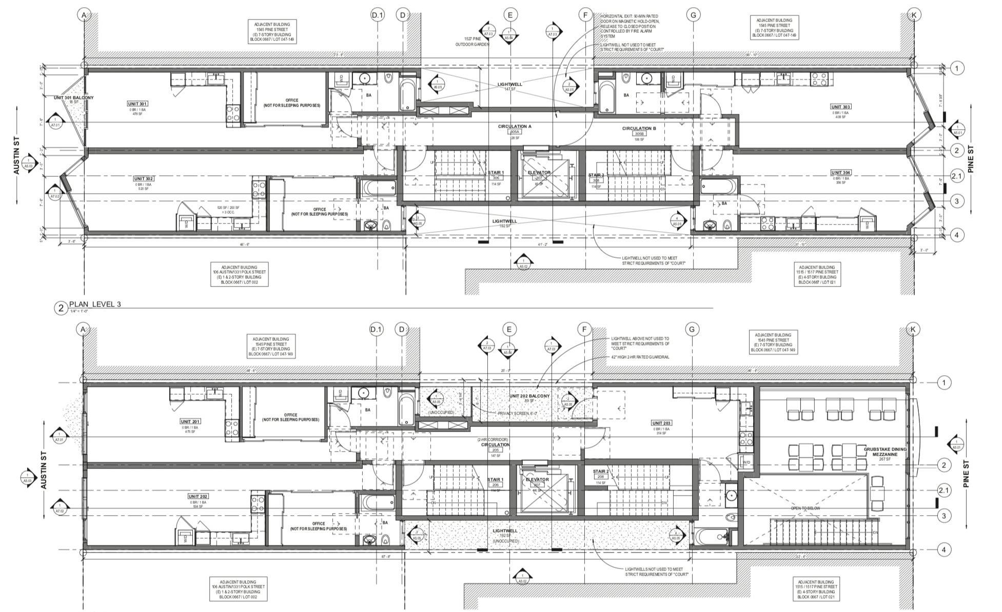 1525 Pine Street Floor Plans