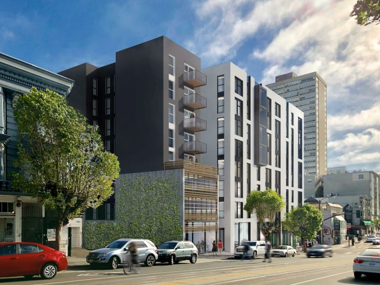 1567 California Street view along California Street from the east, rendering by David Baker Architects