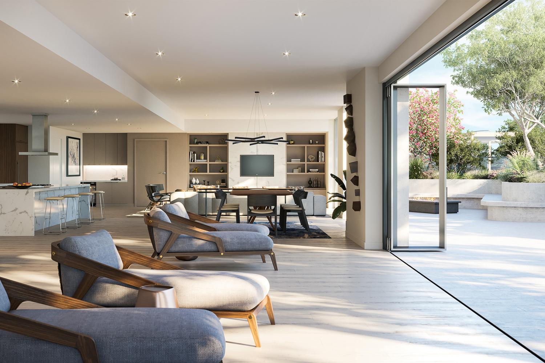 188 West Saint James lounge, rendering courtesy C2K Architects
