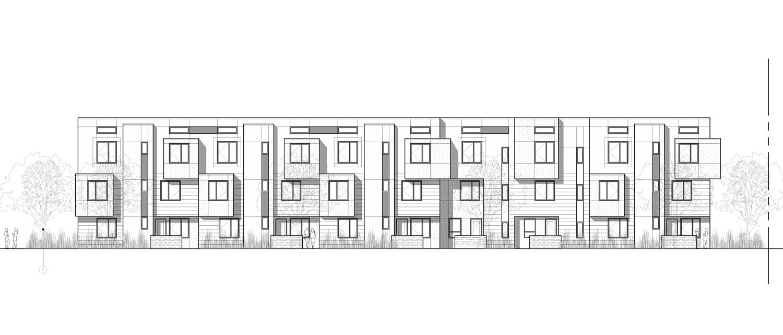 1925 Brush Street elevation, design by Levy Design Partners