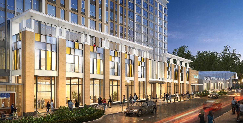 2129 Shattuck Avenue building entrance, rendering courtesy JRDV