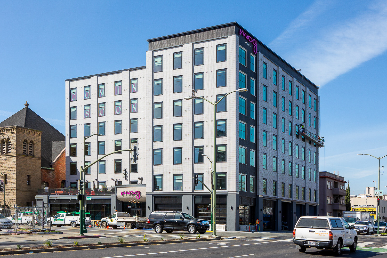 Moxy Hotel at 2225 Telegraph Avenue, image by Andrew Campbell Nelson