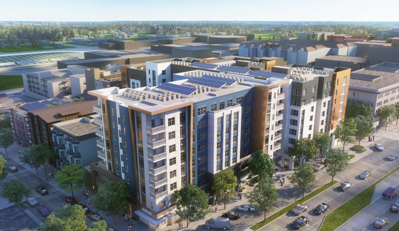 2352 Shattuck Avenue phase two aerial, rendering by Niles Bolton Associates