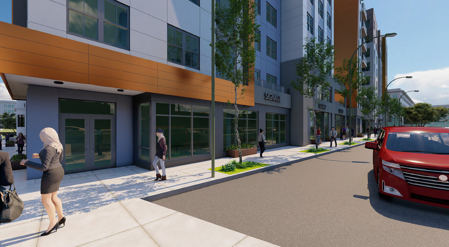 2352 Shattuck Avenue phase two street view, rendering by Niles Bolton Associates