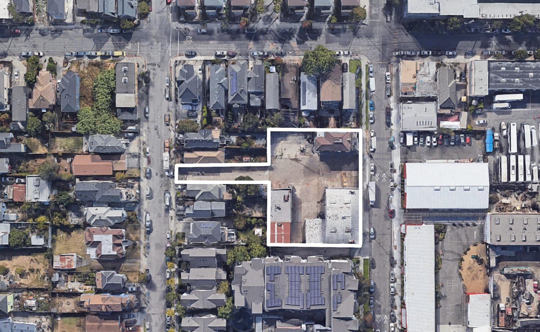 2420-2432 Chestnut Street aerial view, image via Google Satellite
