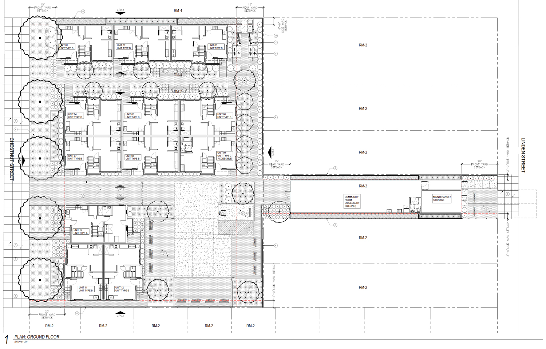 2420-2432 Chestnut Street ground-level floorplan, rendering by Levy Design Partners