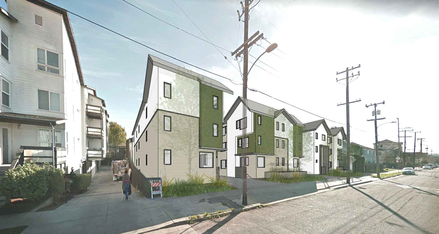 2420-2432 Chestnut Street looking south-east along Chestnut Street, rendering by Levy Design Partners