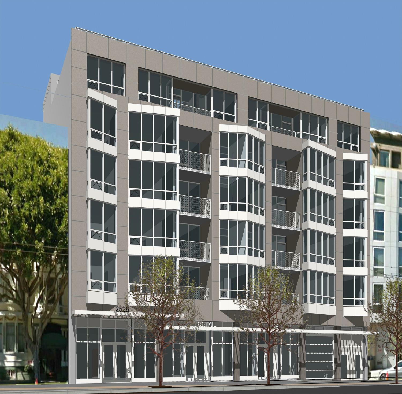 2525 Van Ness Avenue facade, design by Studio N