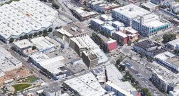 2741 16th Street aerial view, rendering by Perkins & Will