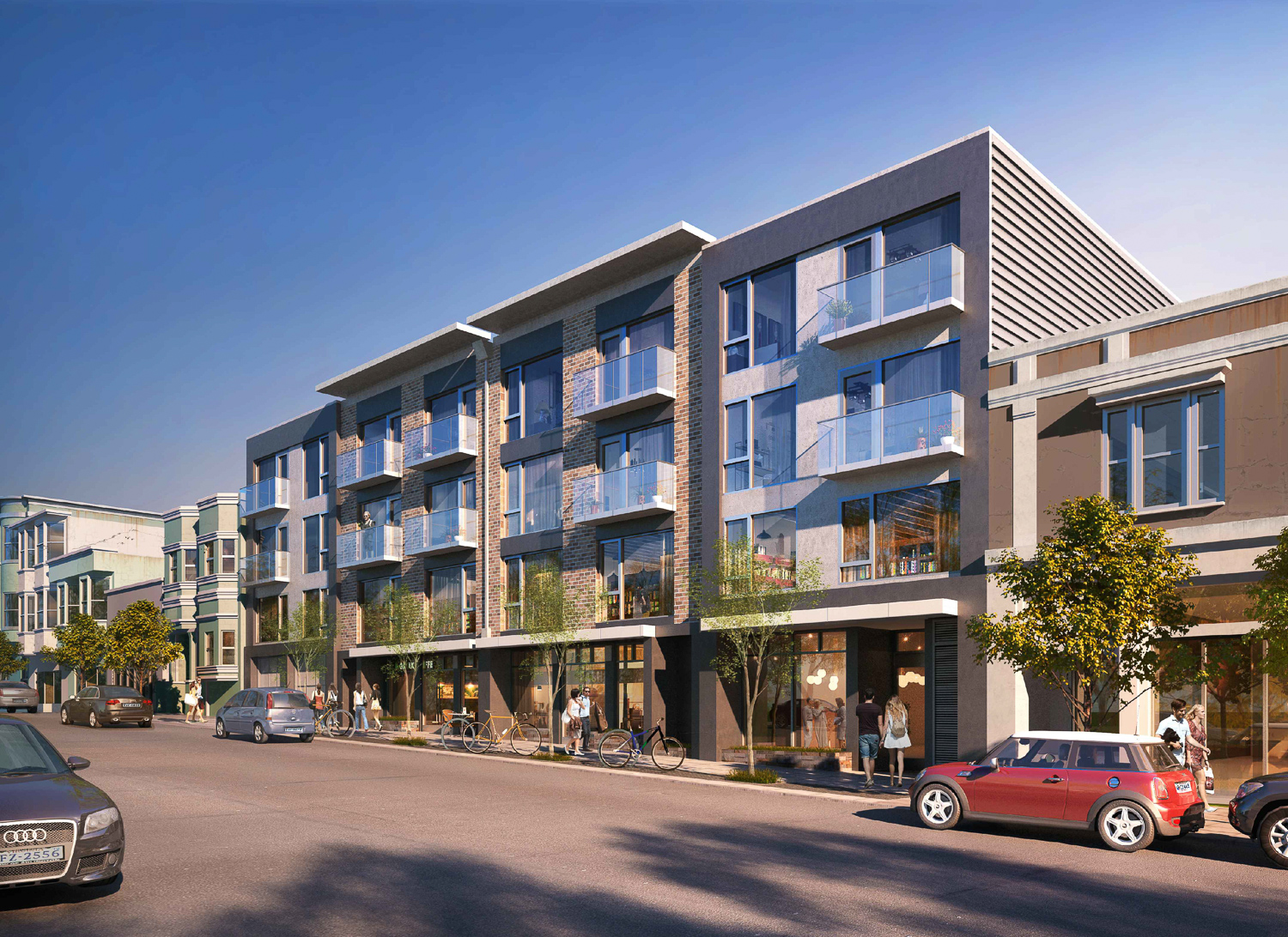 3637-3657 Sacramento Street, rendering by Gary Gee Architects