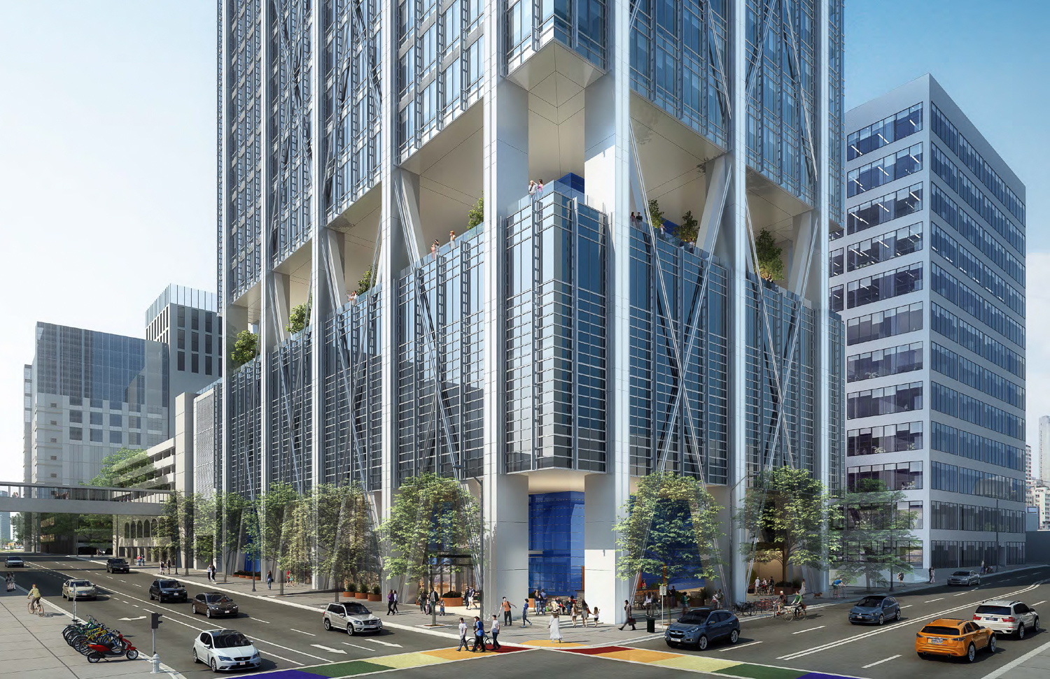 415 20th Street podium, rendering from Hines