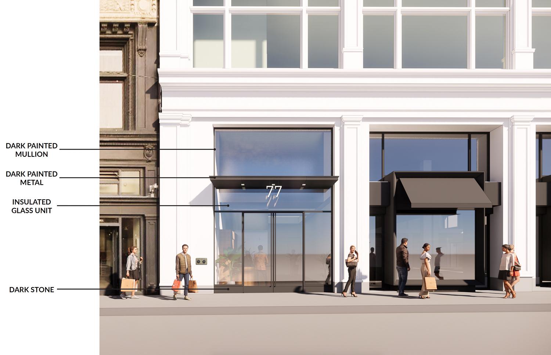 48 Stockton Street materials, design by Gensler