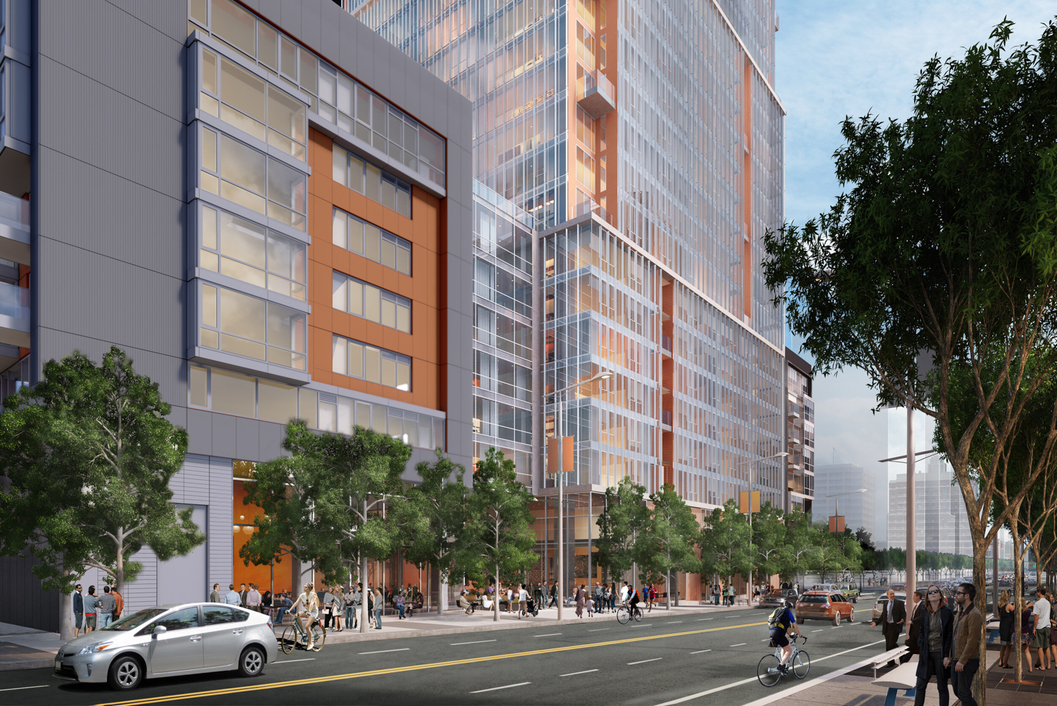 500 Folsom Street street view facade, rendering by Fougeron Architecture