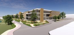 600 Addison Street view of Building B, design by Gensler