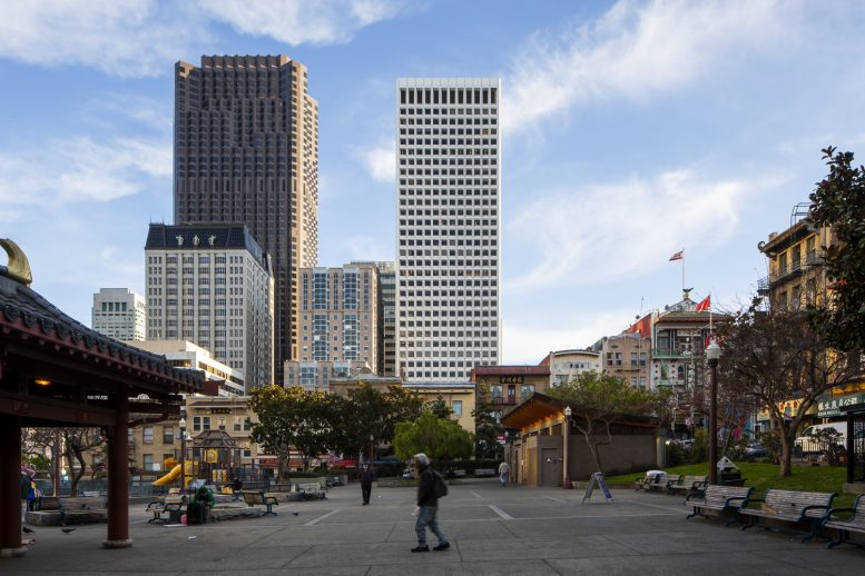 650 California Street viewed from Portsmouth Square, image by Andrew Campbell Nelson