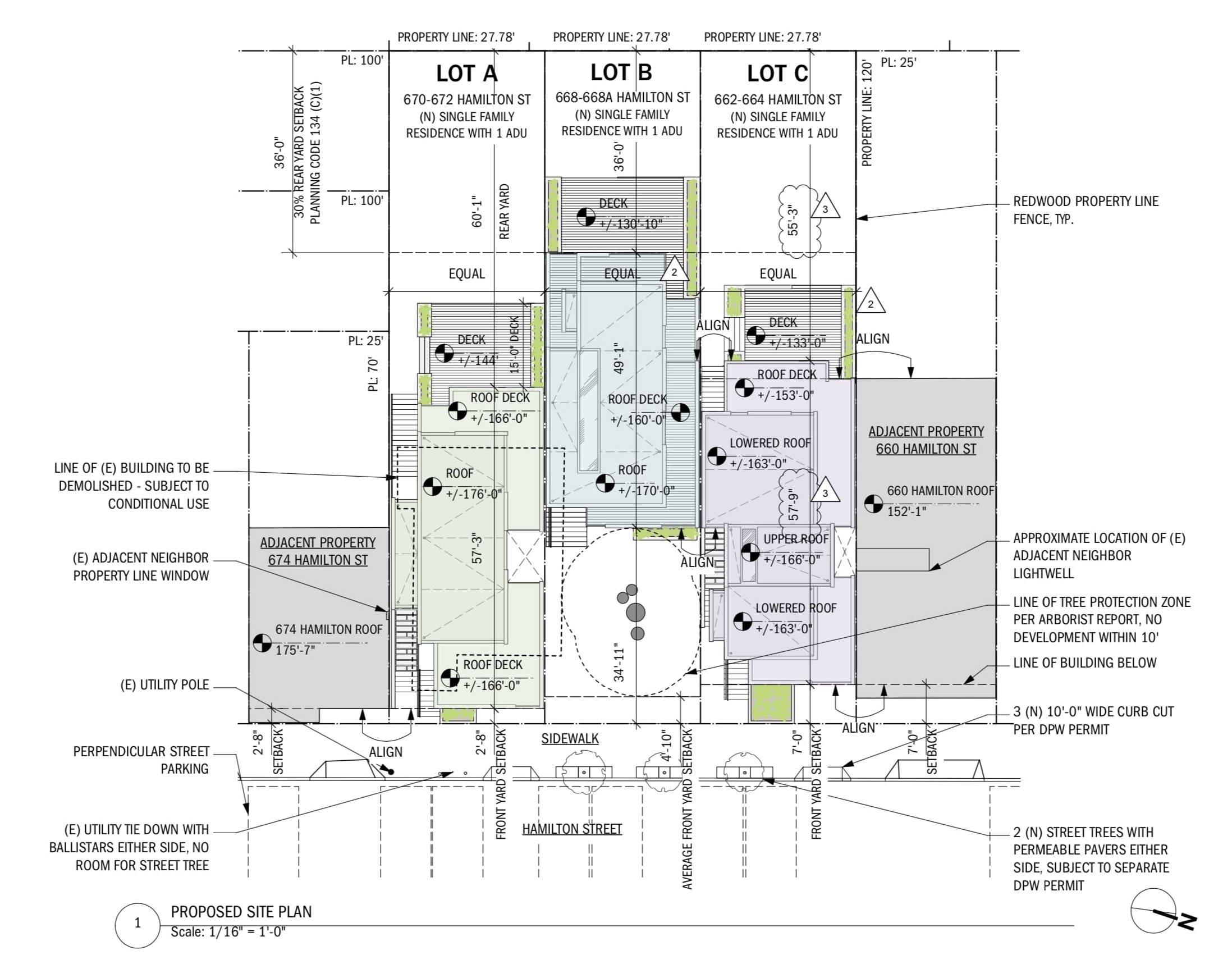 666 Hamilton Street Site Plan